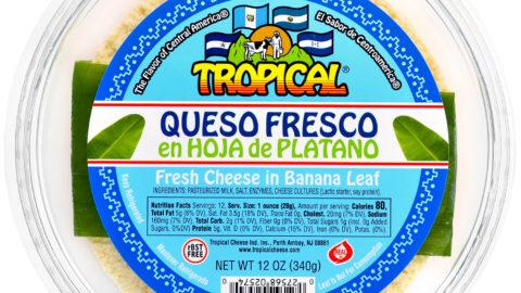 Queso Fresco Centroamericano en Hoja de Plátano