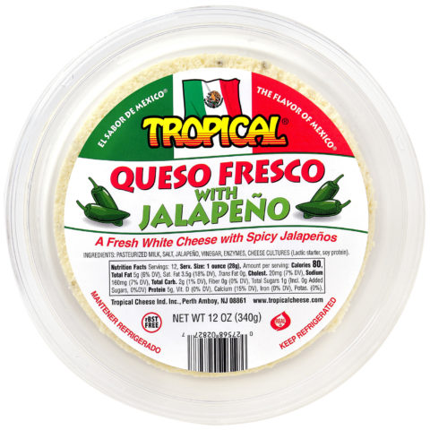 Queso Fresco Mexicano con Jalapeño