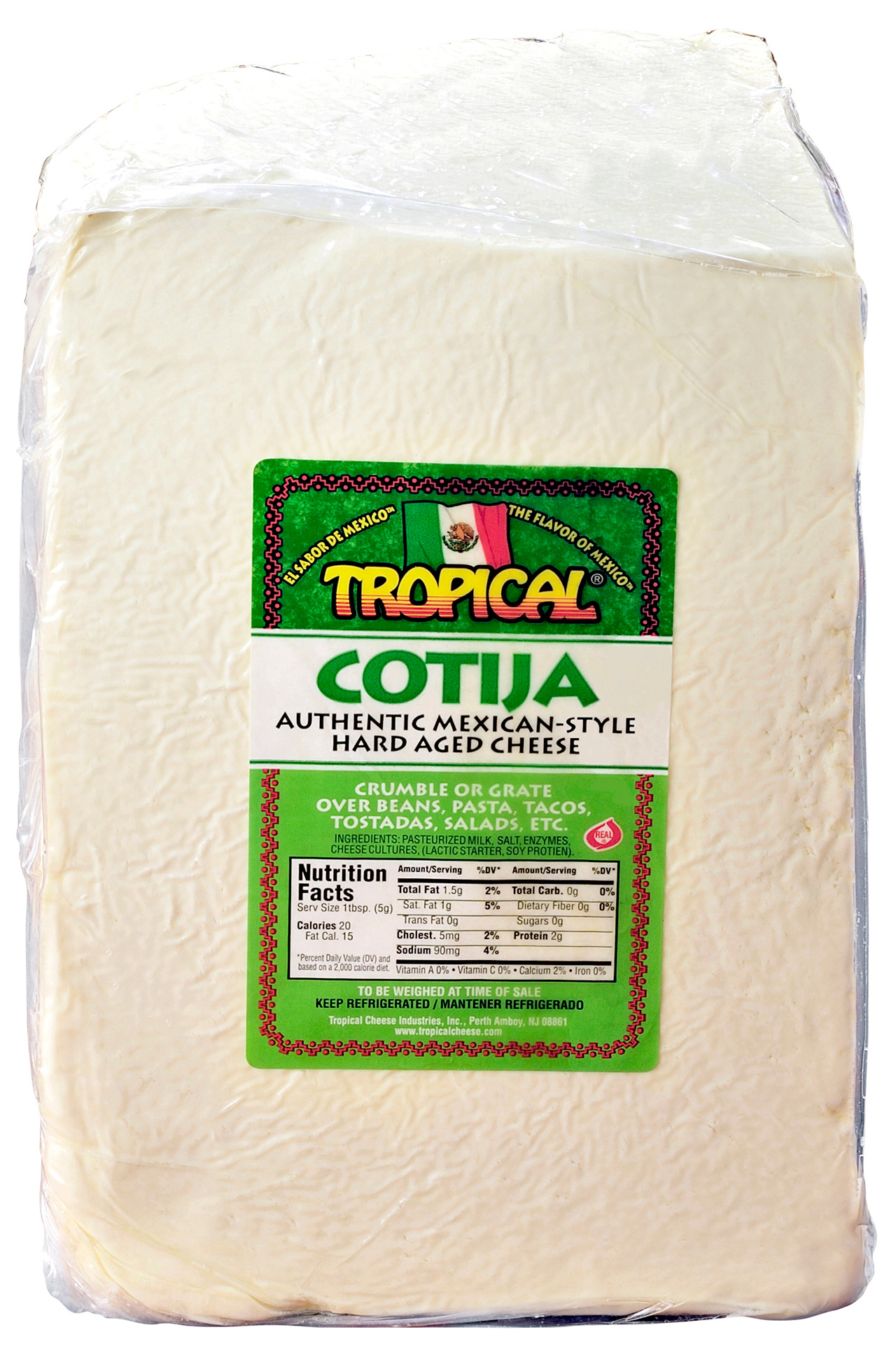 Cotija 1 4 Wheel Tropical Cheese