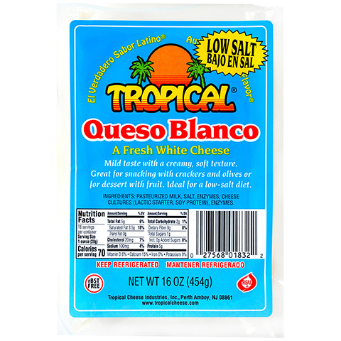 Queso Blanco Low Salt 16oz