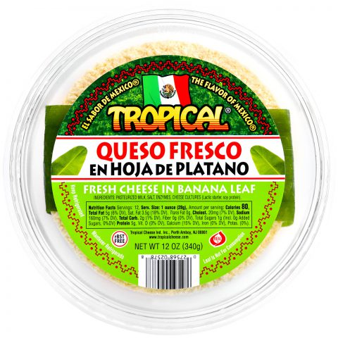 Queso Fresco Mexicano en Hoja de Plátano