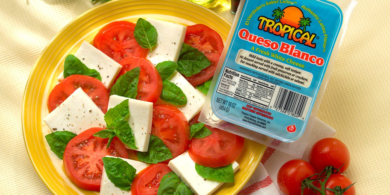 Queso Blanco Caprese Salad