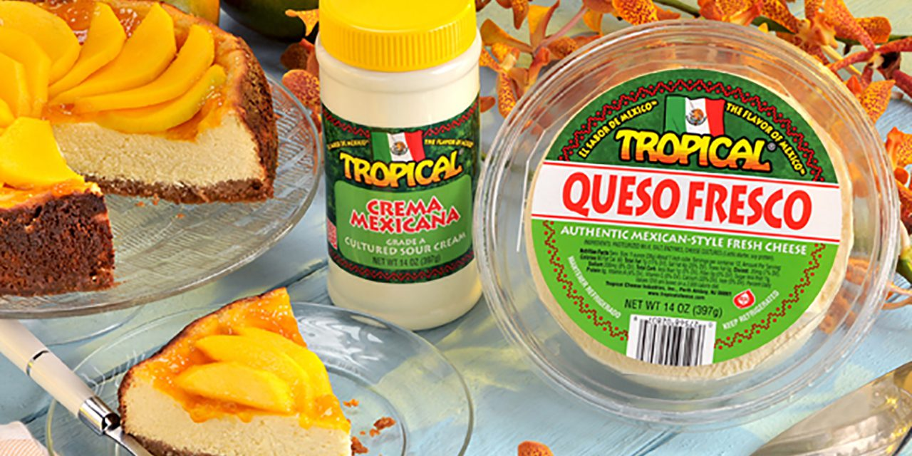 Tropical Cheesecake with Mango Topping