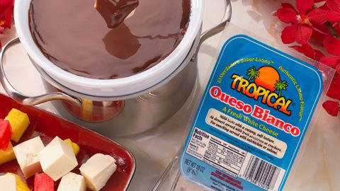 Chocolate and Queso Blanco Fondue
