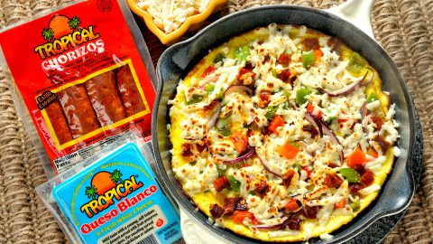 Cheese and Chorizo Frittata