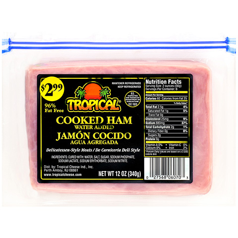 Sliced Cooked Ham 12oz