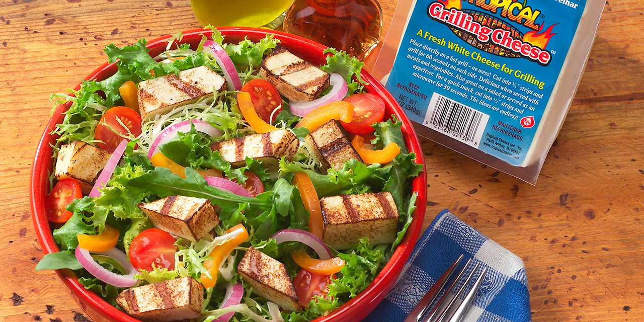 Grilling Cheese Tossed Salad Tropical Cheese