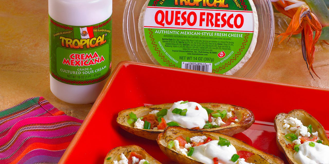 Potato Skins with Mexican Fresco