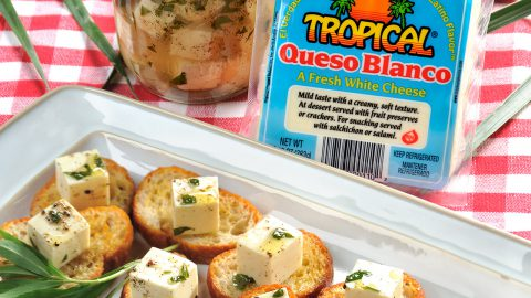 Queso Blanco Marinated in Tarragon and Garlic