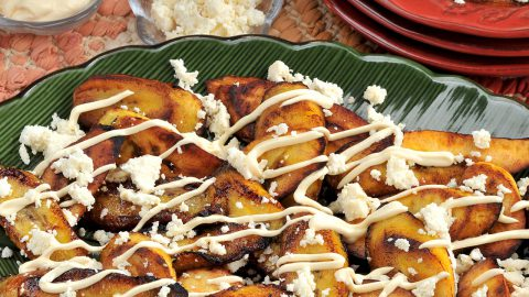 Ripe Plantains with Crema & Queso Fresco