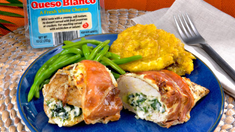 Queso Blanco and Spinach Stuffed Chicken Breasts