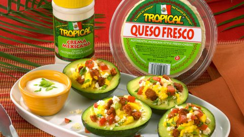 Stuffed Avocado with Chorizo and Queso Fresco