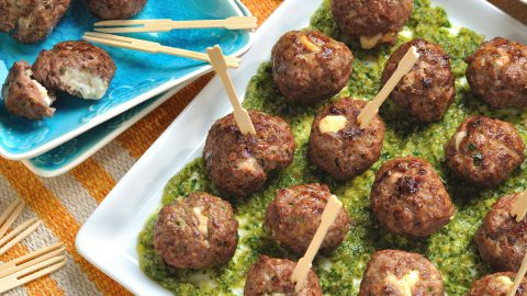 Queso Blanco Stuffed Meatballs
