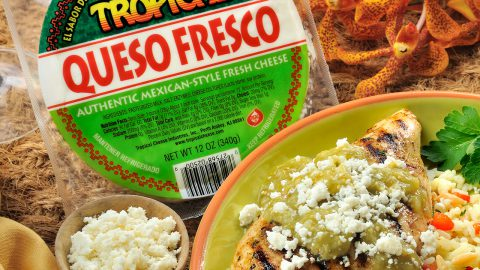 Tomatillo Grilled Chicken with Queso Fresco