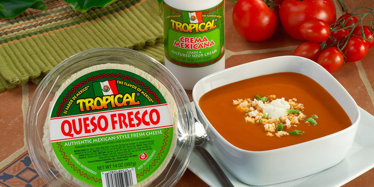 Tomato Soup with Queso Fresco