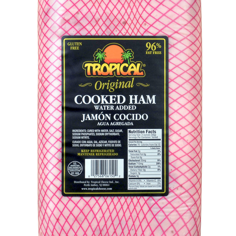 Cooked Ham Tropical Cheese