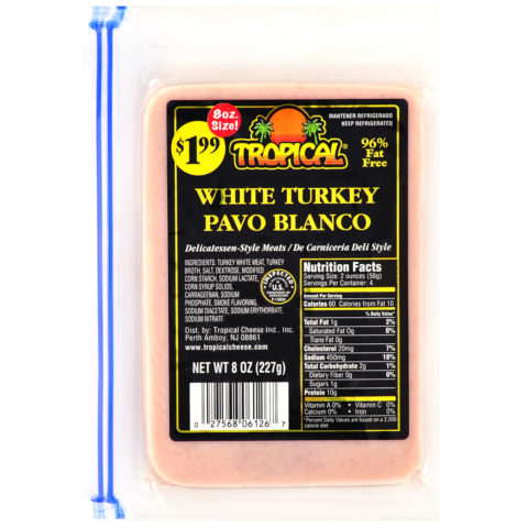 Sliced White Turkey 8oz