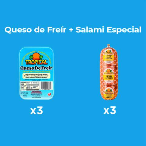 Queso de Freír + Salami Especial